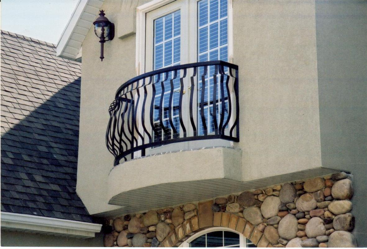 Iron balcony railings for French balcony